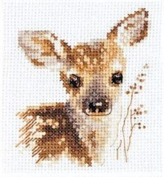 Alisa Counted Cross Stitch Kit - Fawn Article: Size, cm: 7 x Embroidery technique:counted cross stitch Your kit contains: Fabric: Aida 14 ct , white, cotton Threads: cotton Colours: 13 Instructions:rus, eng type Chart Cross Stitch Alphabet Patterns, Cross Stitch Bookmarks, Cute Cross Stitch, Beaded Cross Stitch, Cross Stitch Samplers, Cross Stitch Animals, Modern Cross Stitch, Counted Cross Stitch Patterns, Cross Stitch Charts