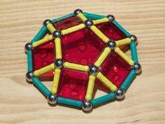 Construcciones con GEOMAG: Decágono regular mediante cúpula pentagonal