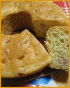 Ciambella rustica con mortadella e groviera Recipe Sharing, Pane, Cornbread, Cheese, Board, Ethnic Recipes, Salads, Millet Bread, Corn Bread