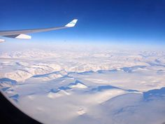 Plane views from my window seat - Above Greenland - KLM