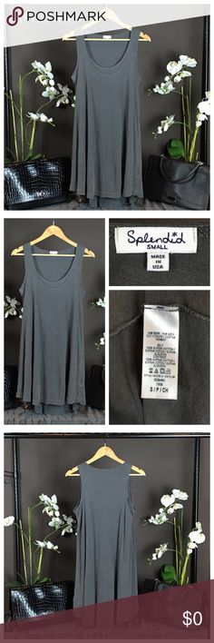Splendid Swing Soft Tank Lightweight cotton easily flows into the swingy shape styling a soft tank. Material: 100% Supima Cotton. Condition: Excellent. Splendid Tops Tank Tops