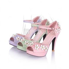 Women's Shoes Peep Toe Stiletto Heel Sandals with Buckle Shoes More Colors available | LightInTheBox