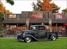 Hot Rod mit Coca Cola
