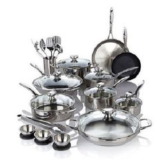Wolfgang Puck Bistro Elite 27-piece Stainless Steel Cookware Set ** You can find more details by visiting the image link.