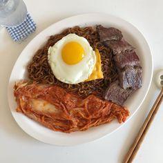 I Love Food, Good Food, Yummy Food, Korean Recipes, Korean Food, K Food, Food Porn, Cafe Food, Aesthetic Food
