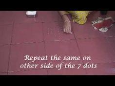 Waldorf ~ 5th grade ~ Ancient India ~ Rangoli using dots 7 to 4 ~ Morning Lesson Wake-up Form