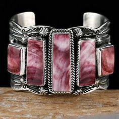 "GUY HOSKIE ""Divine Purple"" Spiney O Bracelet Sterling Silver Native American"