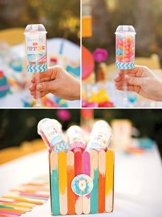 candy filled push-pops