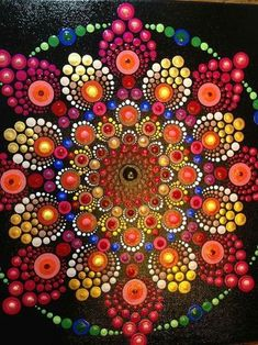 Image result for dotillism art Mandala Art, Mandala Canvas, Mandalas Painting, Mandalas Drawing, Mandala Rocks, Mandala Design, Dot Art Painting, Painting Patterns, Stone Painting