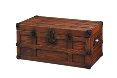 Amish Oak Wood Storage Trunk Amish Hope Chest Collection This Oak Wood Trunk will bring an antique feel to any room.  This trunk is Amish handcrafted from solid oak wood and features ge