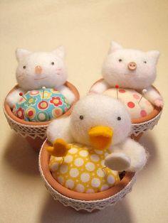 Sweet little pincushions!