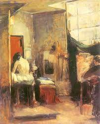 Artist in her studio. Olga Boznanska.