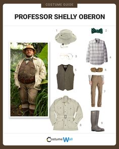 The best costume guide for dressing up like Professor Shelly Oberon played by Jack Black from the Jumanji: Welcome to the Jungle movie.