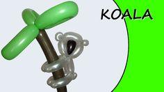Video tutorial on how to make a koala with balloons twisting #koala