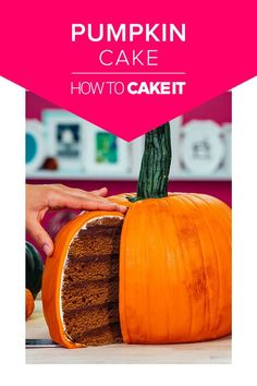 Pumpkin Cake | Bake up this easy recipe to kick off fall. With Halloween is right around the corner design this delicious cake to wow your friends this season! How To Cake It #Baking #Pumpkinspice #recipes
