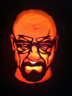 Breaking Bad pumpkin template #ThinkGeekoween