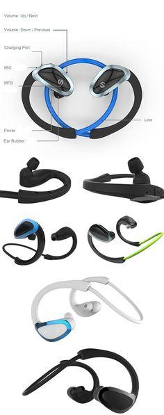 Cheap stylish headphones V4.1 CSR noise cancelling sport stereo bluetooth headset earphone wireless xhh802