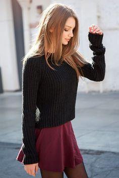 glamblack:   Black Sweater >>    skirt >>... A Fashion Tumblr full of Street Wear, Models, Trends & the lates