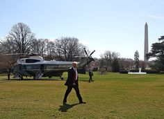 Donald Trump Photos Photos - U.S. President Donald Trump walks to the Oval Office after arriving back at the White House, on February 24, 2017 in Washington, DC. President Trump made the short trip to National Harbor in Maryland to speak at CPAC, the Conservative Political Action Conference. - President Trump Returns To White House From Speaking At CPAC Event