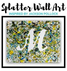 Here's a fun abstract art project for kids based on the art of Jackson Pollock.