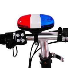 Horn for Bicycle Bike Bells  LED Bike Light Electronic Siren for Kids Bike Accessories Scooter 6LED 4Tone #Affiliate