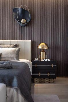 24 delightful bedroom designs ideas with dark wall 00016 Cheap Bedroom Decor, Bedroom Furniture, Furniture Design, Furniture Makers, Bedroom Ideas, Home Lighting Design, Metal Table Lamps, Furniture Hardware, Farmhouse Furniture