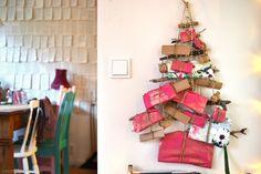 Dollar Store Crafts » Blog Archive » Make a Twig Tree Advent Calendar