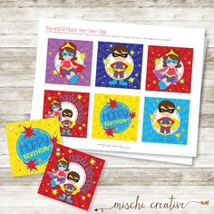 Calling All Super Heroes Double Birthday Party by MischiCreative