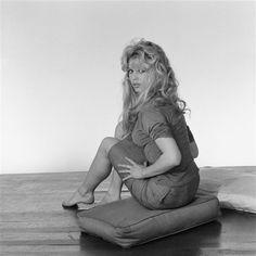 Brigitte Bardot photographed by Sam Levin, 1958.