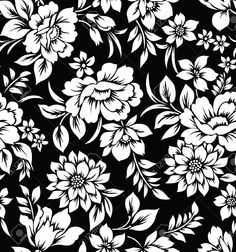 129 best black and white flowers background images on pinterest black and white flowers decorative seamless floral wallpaper stock photo mightylinksfo