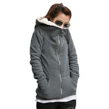 2016 mulheres outono inverno quente grosso casaco de lã casaco com capuz Hoodies de lã com capuz camisola sml XL 2XL 3XL 4XL(China (Mainland))
