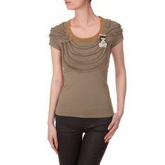 Tee-shirt colliers froncés
