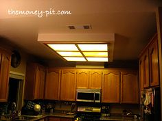 Updating A Fluorescent Box Light With LED Lighting Decorative Molding. Kitchen  Lighting FixturesKitchen ...