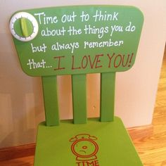 Timeout Chair/with Timer/ I did home day care 14 years---- ( would have loved to have had one of these.)