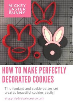 the super simple way to decorate cookies! Easter Cookie Cutters, Cookie Cutter Set, Easter Cookies, Mickey Mouse Head, Mouse Ears, Disney Cookies, Toddler Fun, Crafts For Kids, Easter Crafts