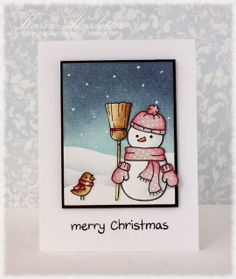 """Merry Christmas Snowman - Lawn Fawn """"Making Frosty Friends"""""""