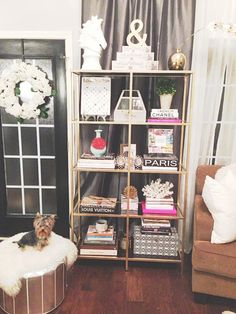 {bookcase styling}