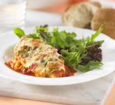 Chicken parmigiana. Ready in 20 minutes - and the kids will love it.