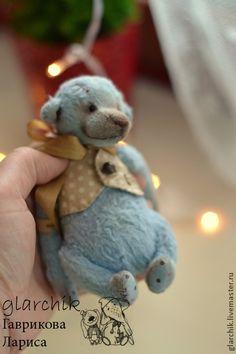 Локи медведик - голубой,бежевый,teddy bear,teddy,мишка,авторская игрушка