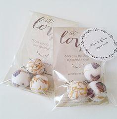 Wedding Favor Wildflower Seed Bombs - 1 favor bag- von Let Love Grow auf DaWanda.com