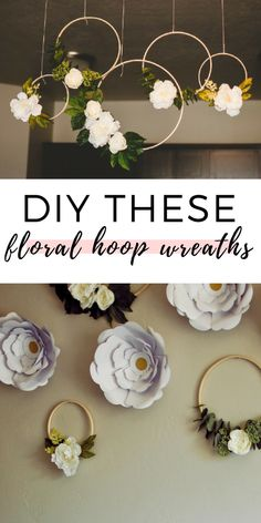 DIY the floral hoop wreaths for a nursery, wedding, or backdrop. I teach you how to make a floral hoop wreath so you can hang it on your wall for some beautiful decor or for a baby shower! diy event Ella's Floral First Birthday Party Floral Backdrop, Diy Backdrop, Backdrops, Diy Baby Shower Decorations, Diy Birthday Decorations, Diy Debut Decorations, Floral Decorations, Birthday Diy, Baby Shower Backdrop