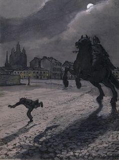the bronze horseman pushkin poem summary