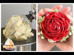 Молочно-масляный крем для декорации тортов - YouTube
