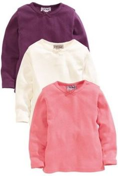 Buy Pack Of Three Berry, Ecru And Pink Pointelle Tops (3mths-6yrs) from the Next UK online shop