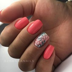 """If you're unfamiliar with nail trends and you hear the words """"coffin nails,"""" what comes to mind? It's not nails with coffins drawn on them. It's long nails with a square tip, and the look has. Diy Nails, Cute Nails, Uñas Color Coral, Nagellack Design, Beauty Nail, Nail Polish, Nail Nail, Top Nail, Nail Swag"""