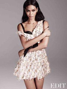 chanel iman photo shoot4 Chanel Iman Stars in The Edit, Calls Beyonce Positive and Uplifting