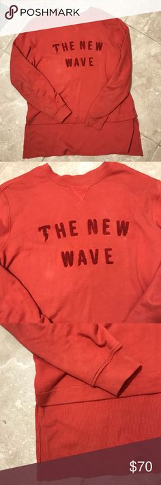 Rare Tackma Oversized Sweatshirt Burnt orange color  Stitched in bold lettering  Few spots see photo  Sweatshirt top, long john material trim  Length 30.5 Chest 20 Sleeve 27.5 Sold out on therealreal for $95 Rare find! Tackma Shirts Sweatshirts & Hoodies