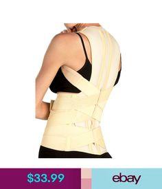 8696f27cd1 Orthopedics   Supports Deluxe Posture Corrector Lumbar Support Belt Round  Shoulder Back Brace Scoliosis  ebay