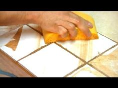 ▶ How to Regrout Bathroom Tiles : Grout Maintenance - YouTube