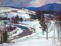 West River Valley by Aldro Thompson Hibbard {1886~1972} ~ winter